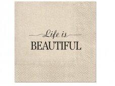 """Ekologiškos servetėlės """"Life is beautiful"""""""