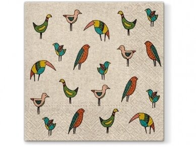"Ekologiškos servetėlės  ""Bird friends"""