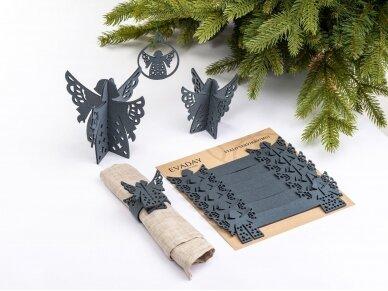 """Kalėdiniai stalo papuošimai """"Angelas"""", pilka 3"""