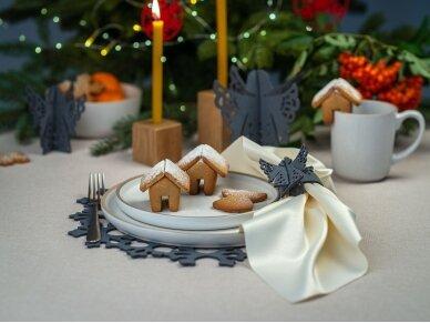 """Kalėdiniai stalo papuošimai """"Angelas"""", pilka 5"""