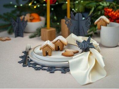 """Kalėdiniai stalo papuošimai """"Angelas"""", pilka 7"""