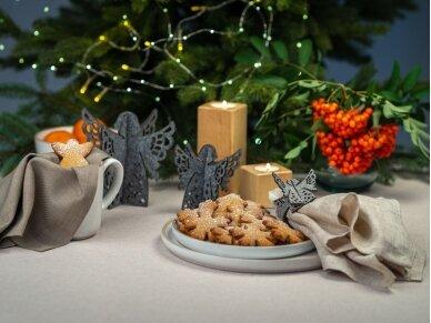 """Kalėdiniai stalo papuošimai """"Angelas"""", šviesiai pilka 8"""