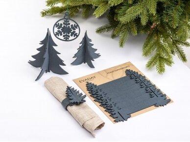 """Kalėdiniai stalo papuošimai """"Eglutė"""", pilka 3"""