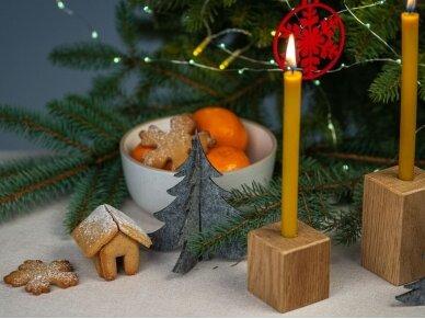 """Kalėdiniai stalo papuošimai """"Eglutė"""", pilka 5"""
