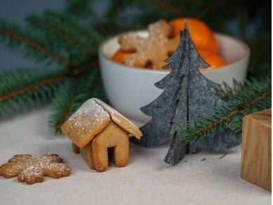 """Kalėdiniai stalo papuošimai """"Eglutė"""", pilka 6"""