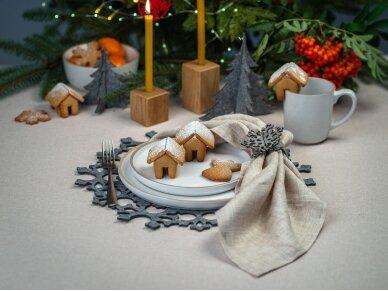 """Kalėdiniai stalo papuošimai """"Eglutė"""", pilka 4"""
