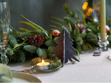 """Kalėdiniai stalo papuošimai """"Eglutė"""", pilka 8"""