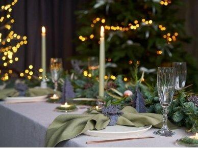 """Kalėdiniai stalo papuošimai """"Eglutė"""", pilka 9"""