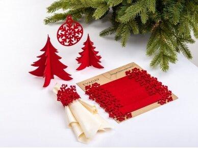 """Kalėdiniai stalo papuošimai """"Eglutė"""", raudona 3"""