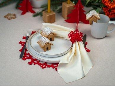 """Kalėdiniai stalo papuošimai """"Eglutė"""", raudona 6"""