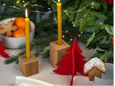 """Kalėdiniai stalo papuošimai """"Eglutė"""", raudona 7"""