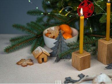"""Kalėdiniai stalo papuošimai """"Eglutė"""", šviesiai pilka 5"""