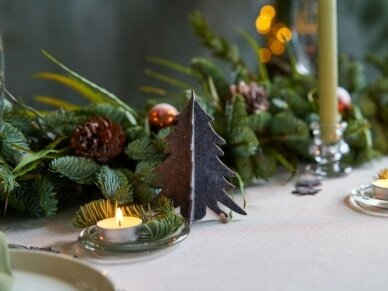 """Kalėdiniai stalo papuošimai """"Eglutė"""", šviesiai pilka 8"""