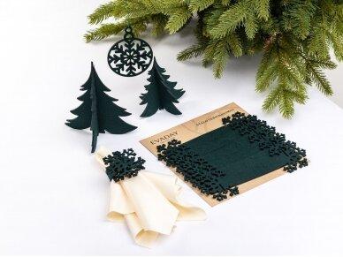 """Kalėdiniai stalo papuošimai """"Eglutė"""", tamsiai žalia 2"""