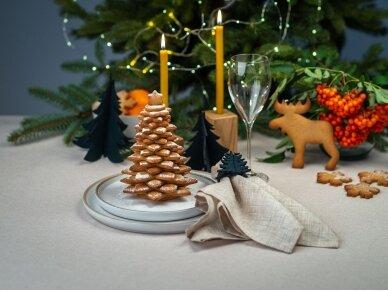 """Kalėdiniai stalo papuošimai """"Eglutė"""", tamsiai žalia 4"""