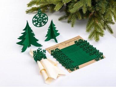 """Kalėdiniai stalo papuošimai """"Eglutė"""", žalia 3"""