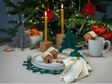 """Kalėdiniai stalo papuošimai """"Eglutė"""", žalia 5"""