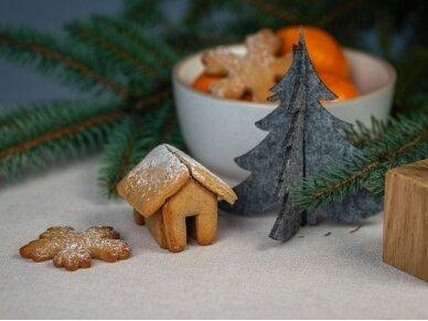"""Kalėdiniai stalo papuošimai """"Eglutė"""", žalia 4"""