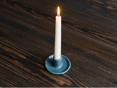 Keramikinė žvakidė mėlyna 2