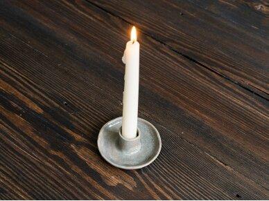 Keramikinė žvakidė pilka 3