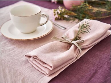 Lininė staltiesė baklažano spalvos 3