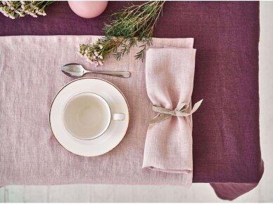 Lininė staltiesė baklažano spalvos 4