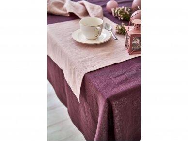 Lininė staltiesė baklažano spalvos 5