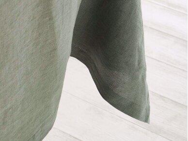 Lininė staltiesė samanų spalvos 2