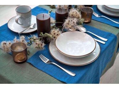 Lininė staltiesė samanų spalvos 4