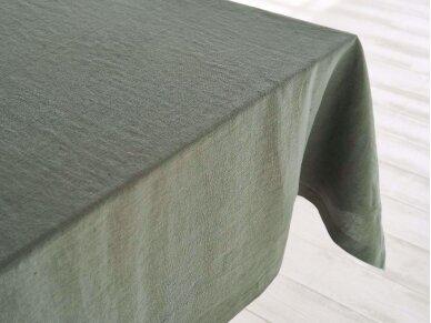 Lininė staltiesė samanų spalvos