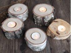 """Medinė žvakidė """"Kelmukas"""""""