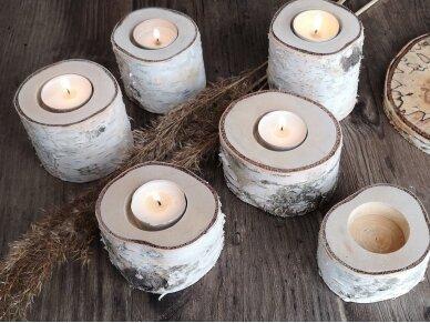 """Medinė žvakidė """"Kelmukas"""" 2"""