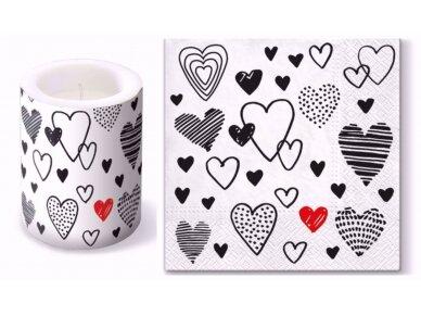 """Popierinės servetėlės """"Crazy love"""" 2"""
