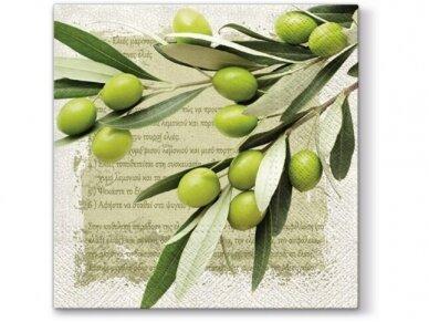 """Popierinės servetėlės """"Greek olives"""""""