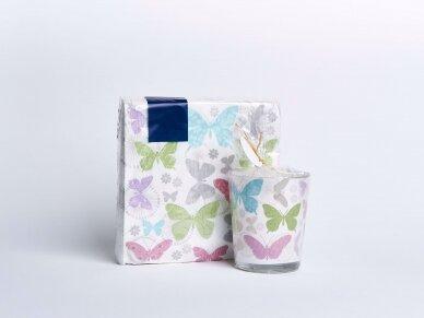 """Popierinės servetėlės """"Soft butterflies"""" 2"""