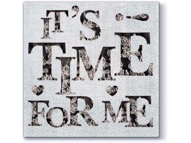 """Popierinės servetėlės """"Time for my"""""""