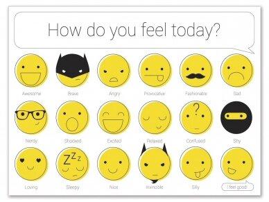 """Popierinis padėkliukas """"Mokomės emocijų"""""""