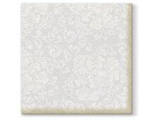 Servetėlės baltos Airlaid, Rococo white