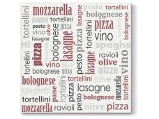 Servetėlės bordo Airlaid, Italian food bordeaux