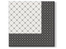 Servetėlės juodos Airlaid, Subtle grid black