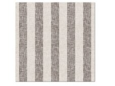 Servetėlės lino imitacijos rudos Airlaid, Linen Stripes brown
