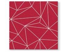 Servetėlės raudonos Airlaid, Geometric lines red