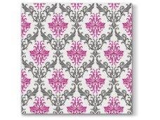 Servetėlės  rožinė Airlaid, Royal ornament fuchsia