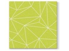 Servetėlės salotinės Airlaid, Geometric lines lime