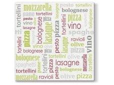 Servetėlės žalios Airlaid, Italian food green