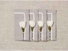 """Servetėlių rinkinys """"4 baltos rožės"""""""