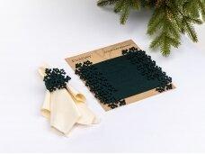 """Servetėlių žiedai """"Snaigė"""", tamsiai žalia"""