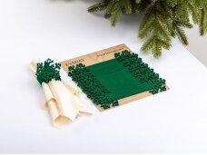 """Servetėlių žiedai """"Snaigė"""", žalia"""