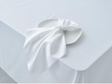Servetėlė balta SATEN besiūlė 45 x 45 cm