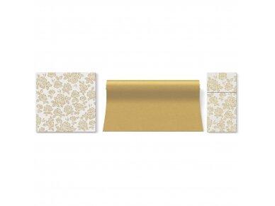 Servetėlė įrankiams auksinė Airlaid, subtle roses gold 2